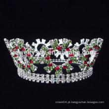 Venda por atacado do metal rei pageant cristais cheios do desfile do rhinestone e tiaras