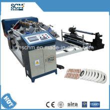Máquina de corte e rebobinamento