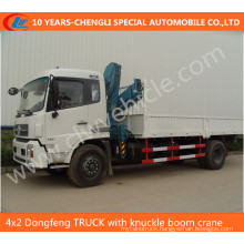 4X2 Dongfeng Truck with Knuckle Boom Crane