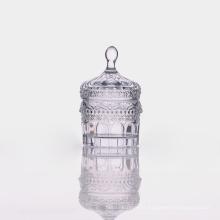 Lidde Clear Sweet Jar with Embossing Pattern