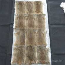 100% real natural brown 120x60cm rabbit fur plate