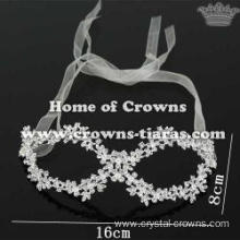 Crystal Masquerade Mask With Small Flowers On It