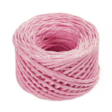 cable de papel trenzado de color rosa