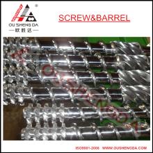Un solo tornillo y barril para máquina de soplado de plástico / extrusión de barril de tornillo de plástico