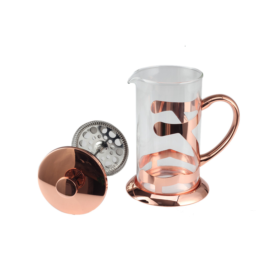 Exquisite Copper Glass French Press