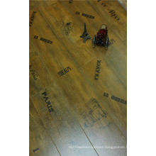 Commrcial 8.3mm Pearl Walnut V-Grooved Waxed Edged Laminate Flooring
