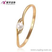 51444 xuping brazalete de oro de 18k de la manera de la perla para las señoras