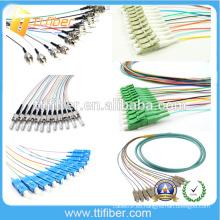 ST / SC / LC / FC proveedor de fibra óptica Pigtail