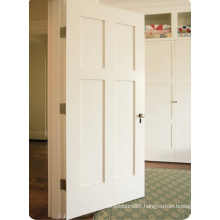 2015 Hot Products Solid Wood White Composite Door with MDF Panel