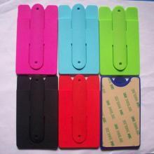 Soporte de tarjeta de identificación de silicona Soporte de teléfono móvil