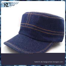 Top-Qualität blau Denim Stoff Probe militärischen Kappen