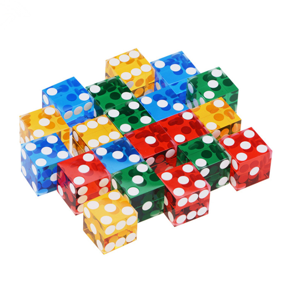 Colored Acrylic Casino Dice