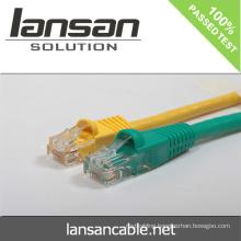 Lansan cat6 UTP 1m patch cord cable 4P*26AWG 7*0.16mm BC stranded pass FLUKE test