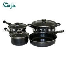 7PCS Carbon Steel Non-Stick Cookware Set
