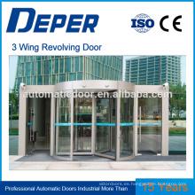 sistema de puerta giratoria de puerta de vidrio templado puerta de entrada automática automática de abrepuertas para supermercado
