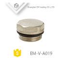 EM-V-A019 Tapón obturador de radiador de latón del sistema de calefacción