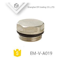 EM-V-A019 Plugue de bloqueio do radiador de bronze para sistema de aquecimento