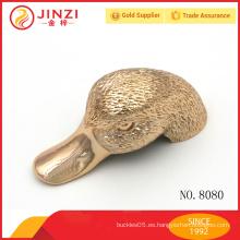 Tamaño grande Cute metal oro pato cabeza accesorios personalizados