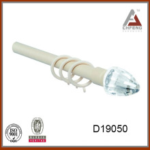 D19050 decorativo de cristal de la barra de cortina finial