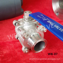Stainless Steel CF8m Quick Connect Ball Valve Dn40