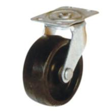 Roulette en caoutchouc noire industrielle (sc300)