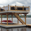 PE floating pontoon house system for house