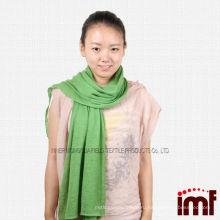 Китай Внутренняя Монголия Кашемир равнина Твердый зеленый шарфы Infinity шарф (красный / белый / синий)