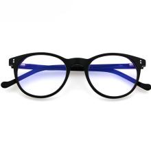 Wholesale Vintage Acetate Round Frame Anti Blue Light Optical Eyewear Glasses