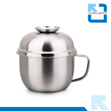 Fashionable 201 Stainless Steel Snack Bowl with Lid