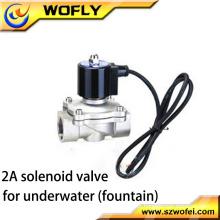 1/4 '' ~ 2 '' válvula de solenóide subaquática de baixa tensão em aço inoxidável média pressão temperatura normal