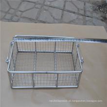 Cesta de armazenamento de aço inoxidável usada na cozinha