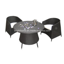 Outdoor Garden PE Patio Dining Chair and Table