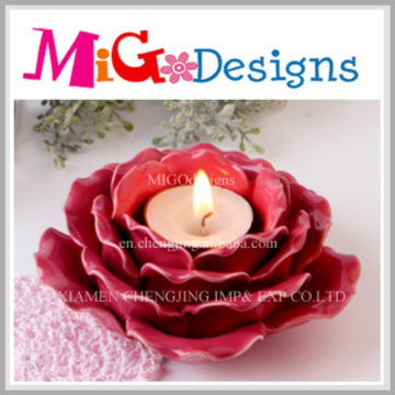 Gift Ceramic Flower Design Candle Holder for Wedding