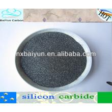 Polvo del carburo de silicio del negro de la fuente de la fábrica para los carburadores / carbono de acero