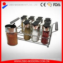 Bouteille d'épices en verre de cuisine Utile / Spice Jar avec Spice Rack