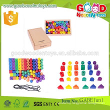 hot sale wooden gabe toys OEM coloful beads toys kids educational gabe wooden beads toys