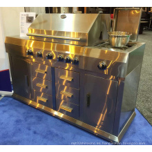 Cocina al aire libre de calidad superior del Bbq del gas del acero inoxidable