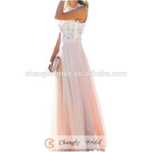 Simple Chiffon Bridesmaid Dresses Boat Neck Lace Cheap Bridesmaid Dress 2016