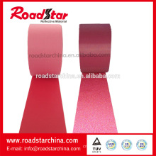 Colored elastic reflective fabric