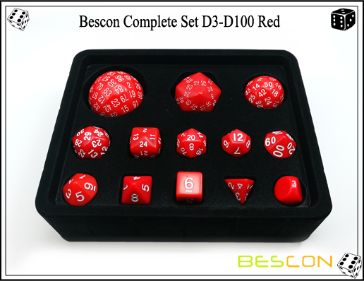 Complete Dice Set D3-D100 (9)