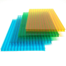 High quality  UV protection Light weight Fire retardant  transparent  hollow polycarbonate sheet  for daylighting corridor