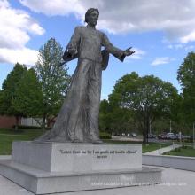 escultura de tamanho de vida de religião clássica estátua de bronze de jesus