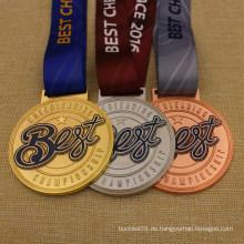 Hochwertige Sublimations-Band-beste Cheerleading-Meisterschafts-Medaille