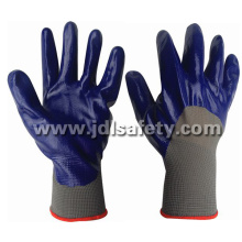 Nylon Knitted Working Gloves, 3/4 Coated with Smooth Nitrile (N1556)