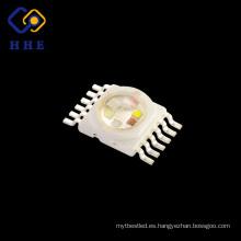 Espectro completo 6 en 1 12 pines 10W BGRWPY multicolor diodos de chip Led de alta potencia para iluminación de paisaje