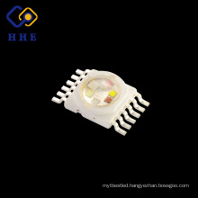 Full Spectrum 6 in 1 12 pins 10W BGRWPY multicolor High Power Led Chip Diodes for Landscape Lighting