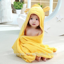 Ours jaune pur de haute qualité 100% bambou bébé Noël serviette à capuchon Boys & Girls bébé biologique à capuche serviette bébé doux serviette