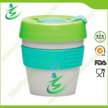 8 Unze Großhandel PP Kaffeetasse mit Abdeckung, BPA-frei