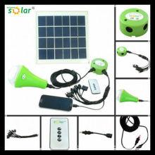 CE portátil 3W Solar-LED camping luz solar de iluminação de emergência com charger(JR-SL988C)