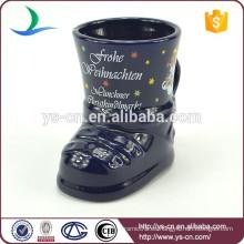 YScc0029-02 Taza personalizada en relieve de cerámica para los niños en vacaciones de Navidad